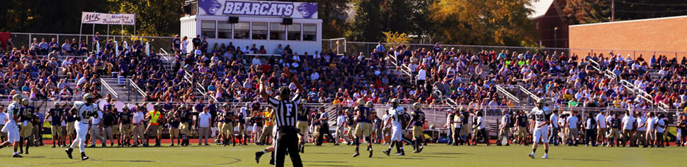 McKendree Football Team Scoring Touchdown at Football Game