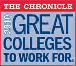 2010 Great Colleges to Work For Badge