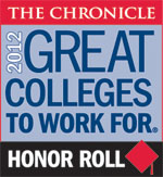 2012 Great Colleges to Work For Honor Roll Badge