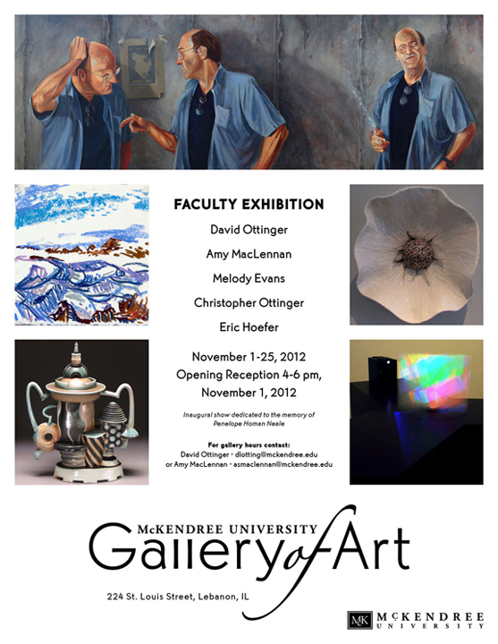 Faculty Show Fall 2012 Postcard