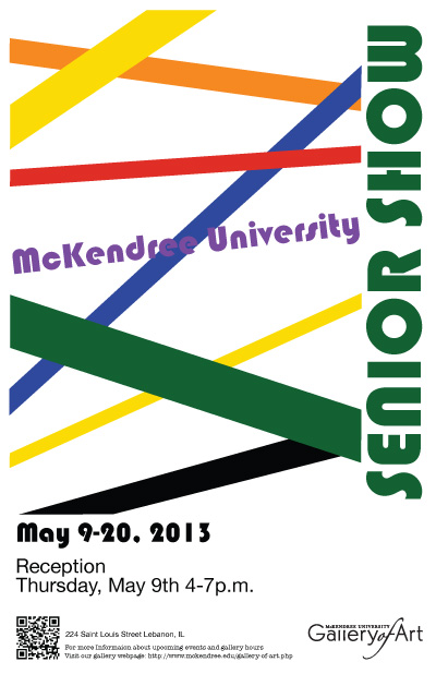 Senior Show Poster by Megan Pea 2013