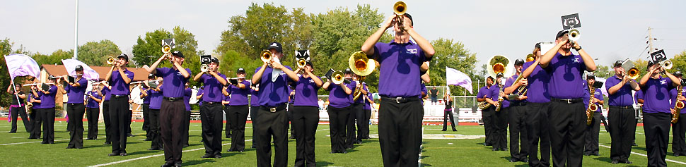 Marching Band Performing on Leemon Field