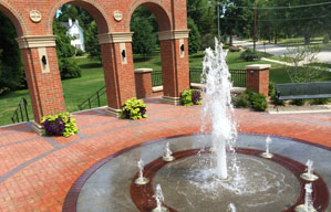 Photo of the Entryway Monument Fountain