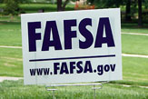 Photo of FAFSA Sign