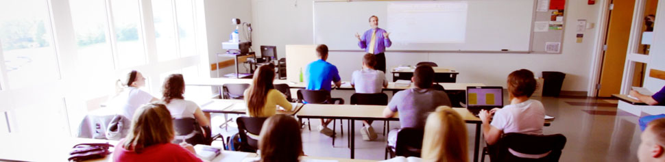 Photo of Professor in Classroom