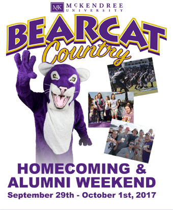 Bearcat Country 2017 Homecoming Weekend Sept. 29-Oct. 1