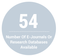 54 - Number of E-Journals or Research Databases Available to Students