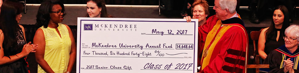 Check Presentation of the Class of 2017 Senior Class Gift