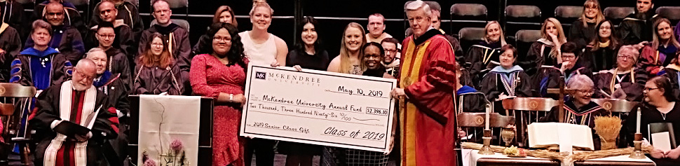 Check Presentation of the Class of 2019 Senior Class Gift