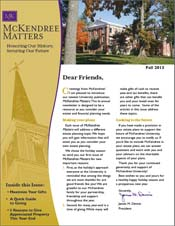 McKendree Matters Newsletter Fall 2013