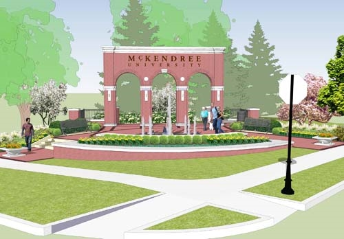 Entryway Monument Rendering