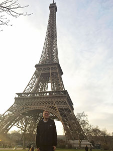 Photo of Jakob Kraft in front of Eiffel tower in Paris, France