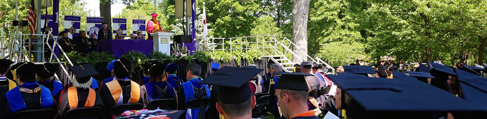 The Commencement Stage at Graduation