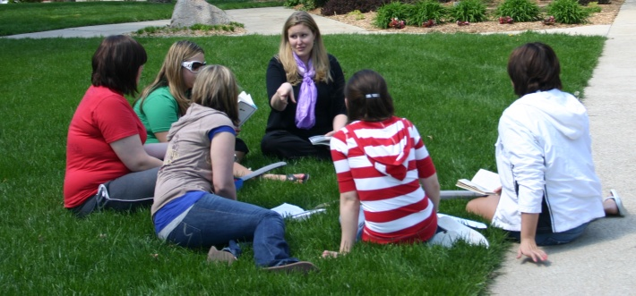 Photo of Class held on Front Lawn