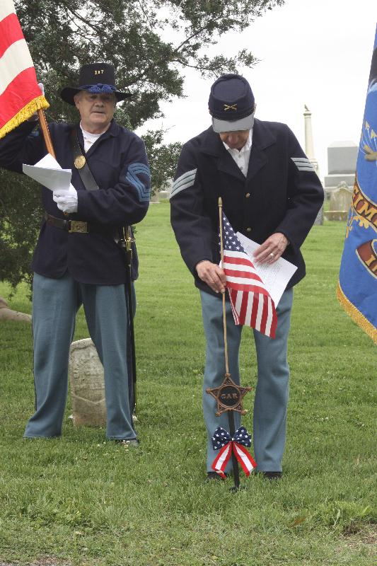 Photo of 117th Illinois Regiment Ceremony