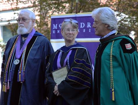 "Dr. Pat Folk, Dr. Lyn Huxford and David Ottinger  are ""Distinguished Service Professors"" at McKendree University."