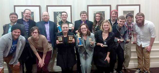 Group photo of Speech and Debate Team at Webster University