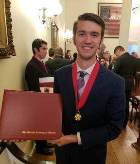 Andrew Wagner of McKendree University is a 2018  Student Laureate of the Lincoln Academy of Illinois.