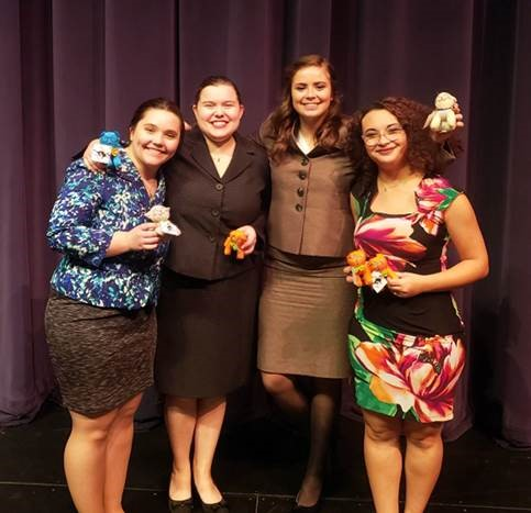 Rebecca Postula, Kate Maag, Isa Scaturro and Aliyah Smith advanced 13 of 14 entries to finals at McKendree's spring speech tournament.