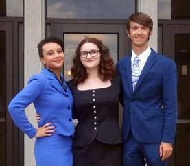 McKendree University speech team members Aliyah Smith, Emma Webster and Andrew Wagner competed at Western Kentucky University
