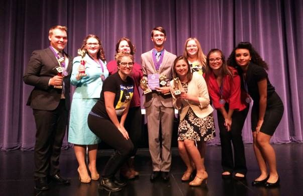 Photo of the 2016 McKendree University speech team