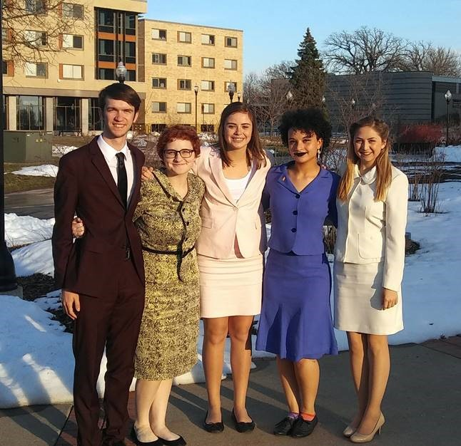 Competing for McKendree University at the National Forensics Association Tournament were Andrew Wagner, Emma Webster, Isa Scaturro, Lea Smith and Grace Alexander.