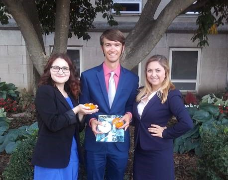 McKendree University speech team members Emma Webster, Andrew Wagner and Grace Alexander