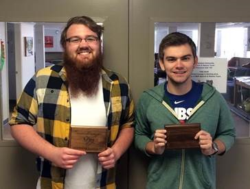 Photo of McKendree University debaters Gage Simmons and Alex Baldwin at NPDA.
