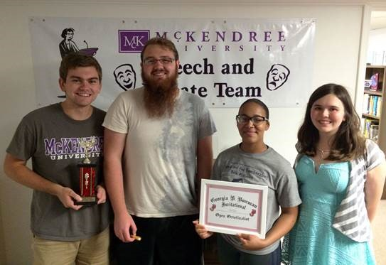 McKendree University Debaters at the William Jewell College Debate Tournament