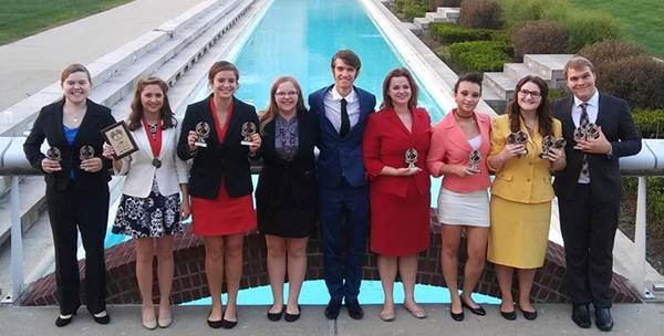 The speech team took third at the University of Indianapolis tournament