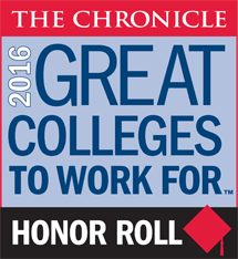 2016 Great Colleges to Work For Honor Roll Badge