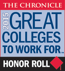 2015 Great Colleges to Work For Honor Roll logo