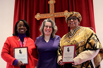 Dr. Pamela Manning and Dr. Martha Patterson received the 2021 McKendree University MLK Humanitarian Award winners. Dr. Patterson dedicated her award to Dr. J.L. Kemp for her commitment to diversity and inclusion, her service to the university and region, and her devotion as a mentor to young people.
