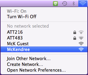 Mac Wireless WiFi Select