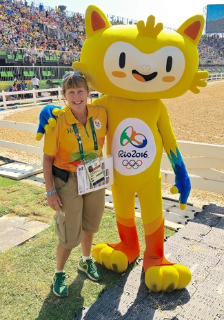 Photo of Jackie Leemon at the Rio Olympics
