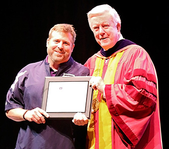"The President's Award for Professional Excellence went to ""Mr. McKendree himself,"" Tim Mullins, printing and mail services manager and a staff member for 27 years."