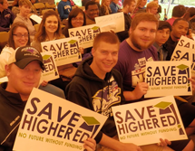 Photo of McKendree Students at SAVE Higher Education Rally