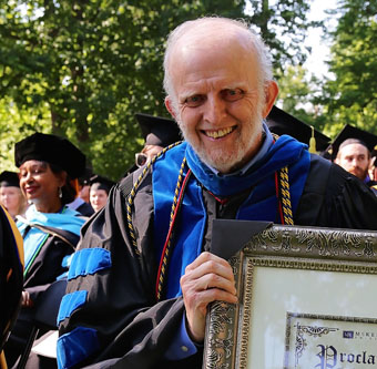 Dr. Greenfield at 2017 Commencement