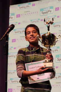 Photo of Spelling Bee Champion