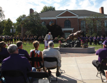 Photo of Bearcat Statue Ceremony