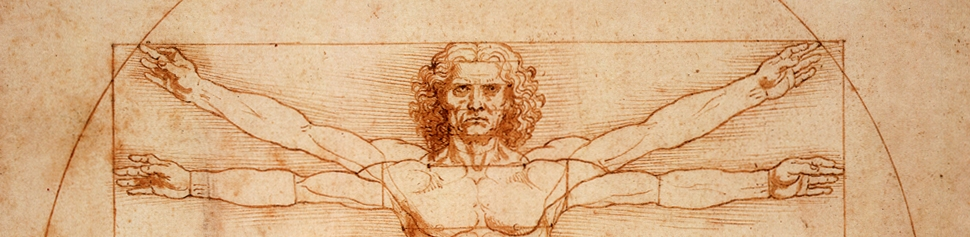 Sketch of Da Vinci's Vitruvian Man