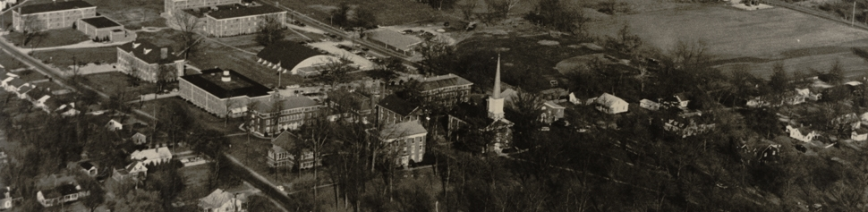 Aerial photo of Lebanon Campus taken in the 1960s.