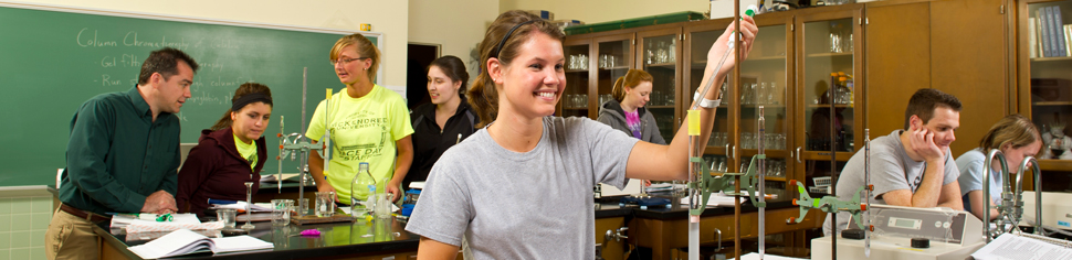 Photo of Kaitlyn Kollmann in the Lab