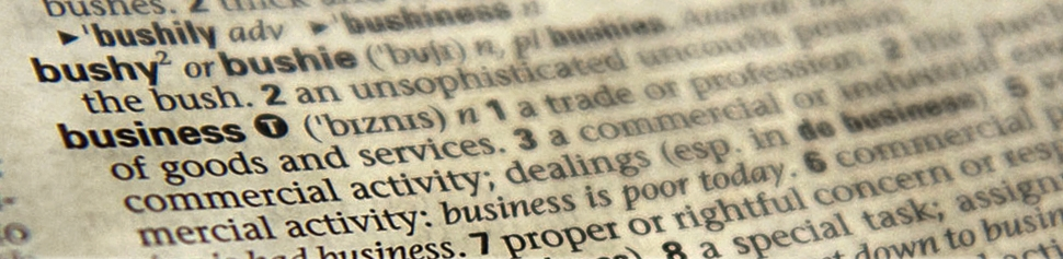 Photo of Dictionary Definition of Business