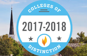 2016-2017 College of Distinction Badge