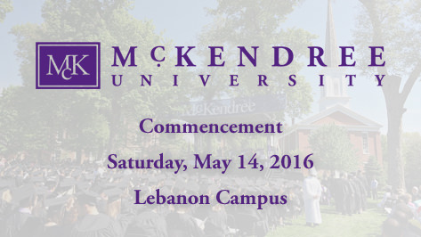 Commencement Saturday, May 14