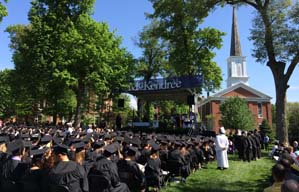 Crowd at McKendree Commencement