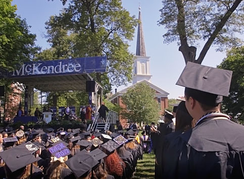 Photo of McKendree Graduates at Commencement