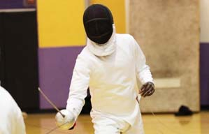 Fencing student athete