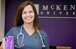 Female Nurse in Scrubs at McKendree University